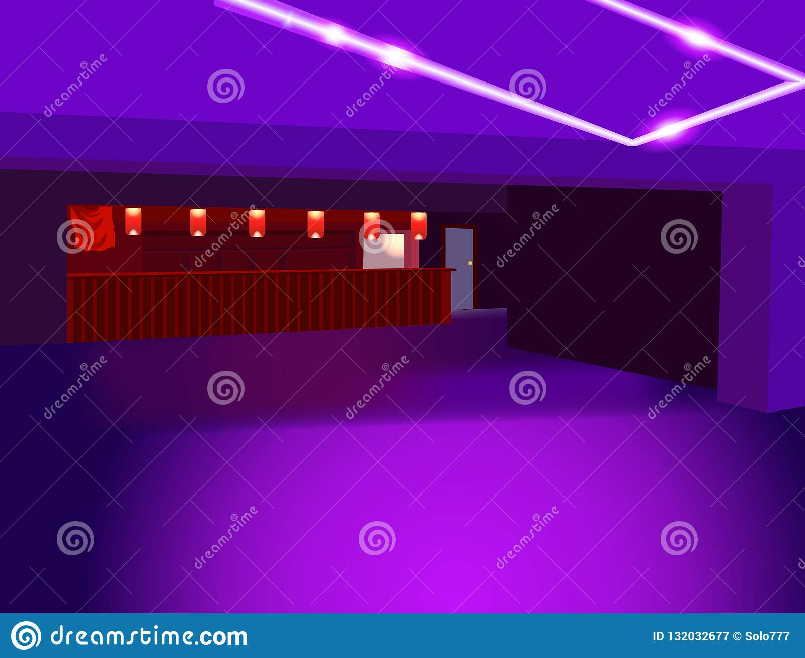 Purple Vector Perspective Background Abstract Club Or Room