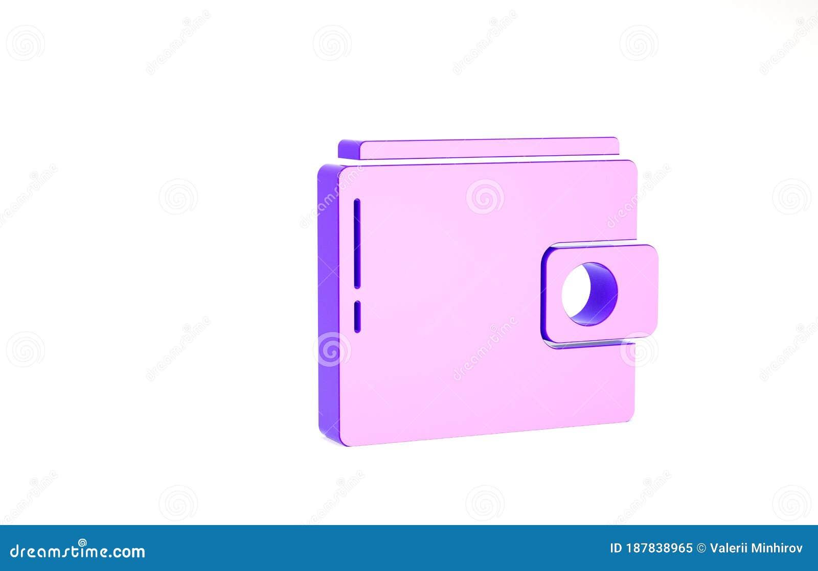 purple wallet icon isolated on white background purse icon cash savings symbol minimalism concept 3d illustration 3d stock illustration illustration of object economy 187838965 dreamstime com