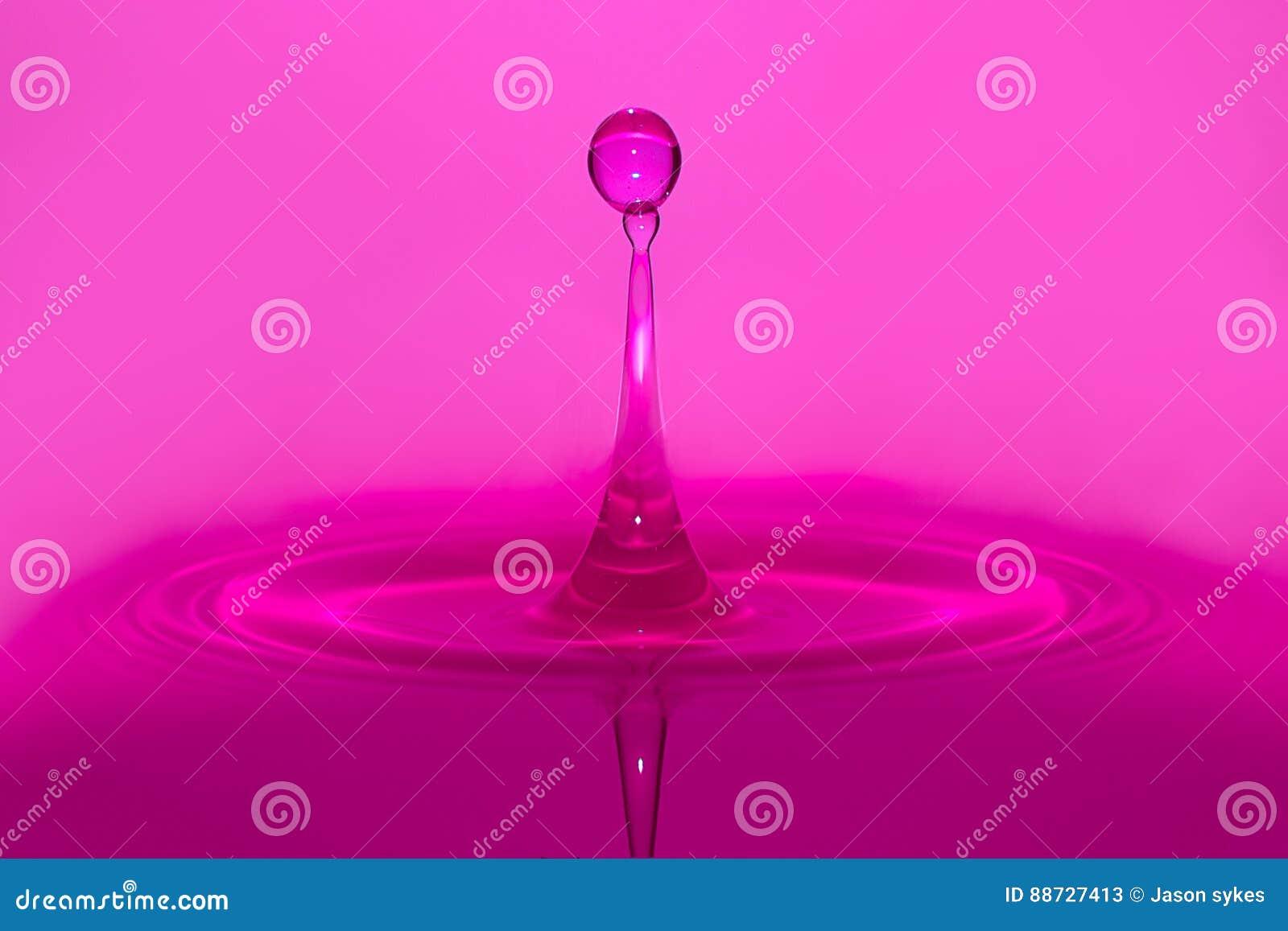 Purple water drop splash