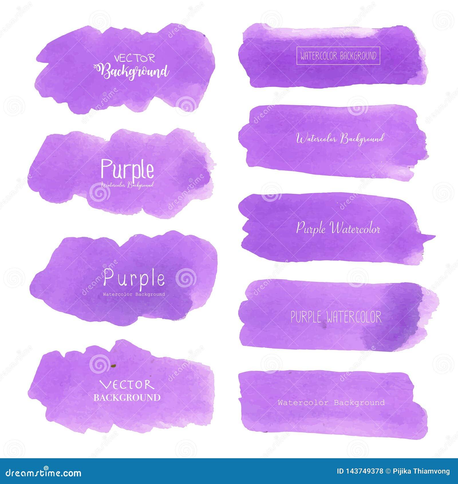 Purple Watercolor Background Pastel Watercolor Logo Stock Vector