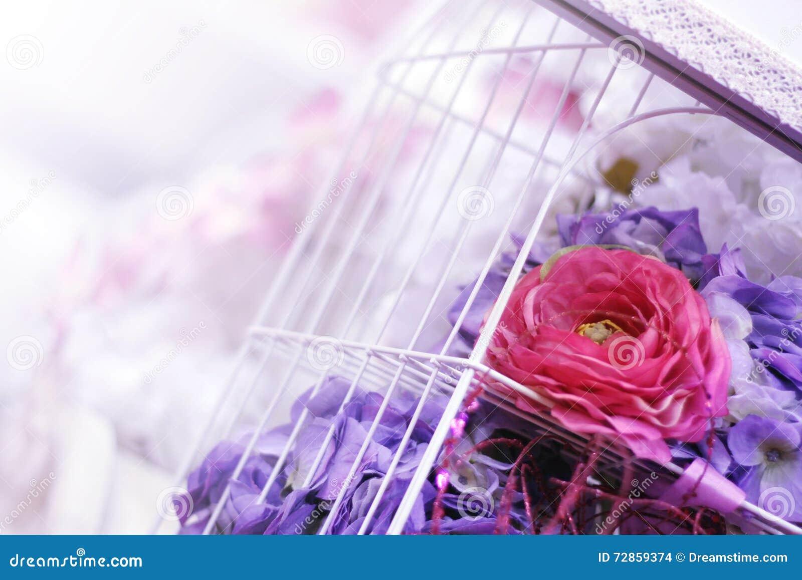 Purple Wedding Decor Stock Photo Image Of Rose Wedding 72859374
