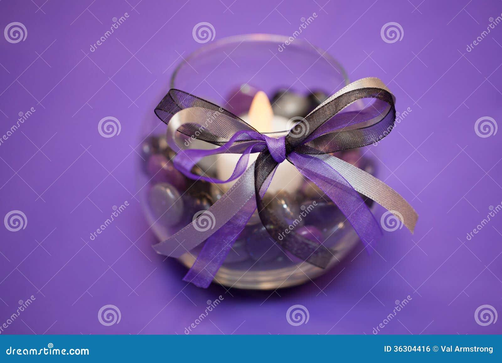 Purple Wedding Table Decoration Centerpiece