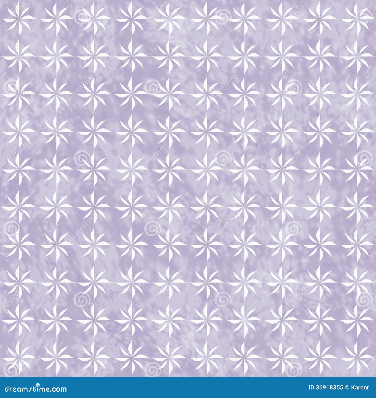 Purple and White Decorative Swirl Design Textured Fabric Backgro
