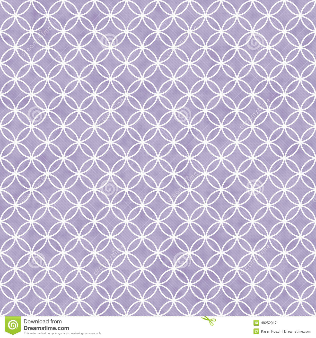 Purple And White Interlocking Circles Tiles Pattern Repeat