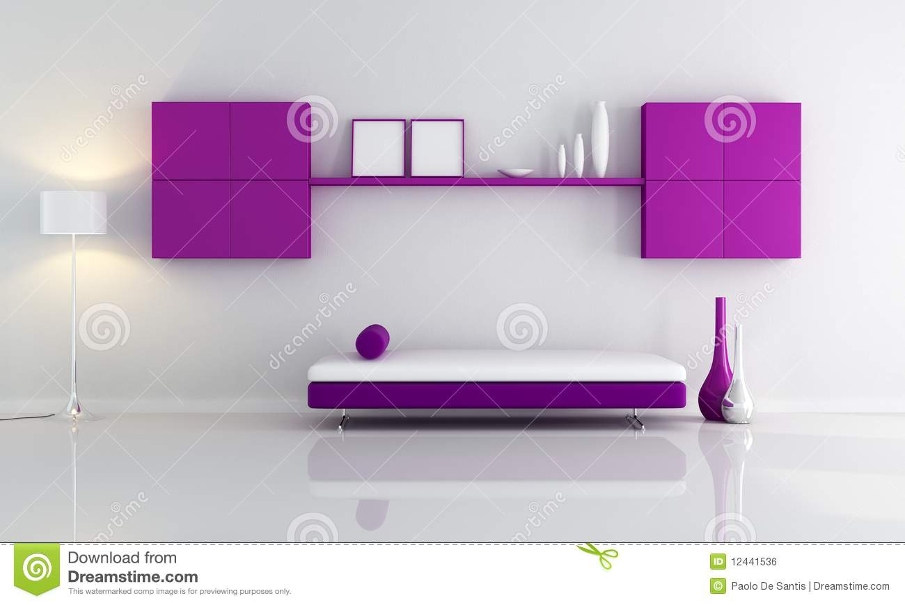 Royalty Free Stock Photo. Download Purple And White Living Room ... Part 55
