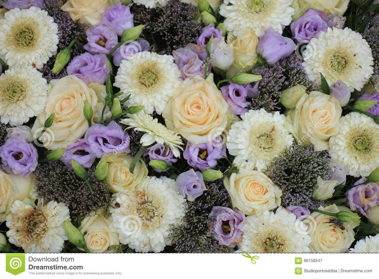 Purple And White Wedding Flowers Stock Image Image Of Floral