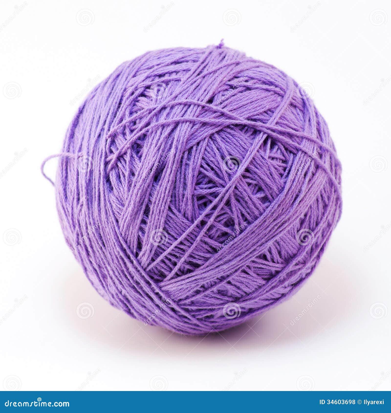 Purple Wool Yarn Ball Royalty Free Stock Photos - Image: 34603698