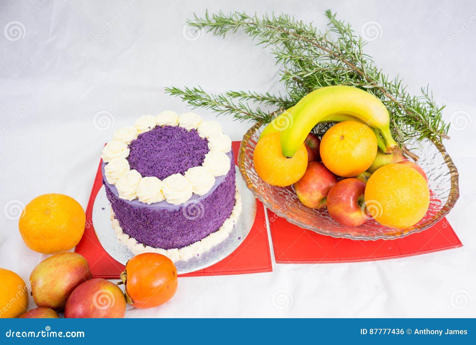 Organic Natural Strawberry Cake