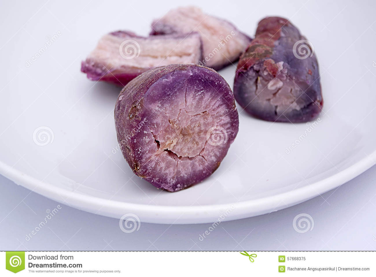 Purple yam for desserts.