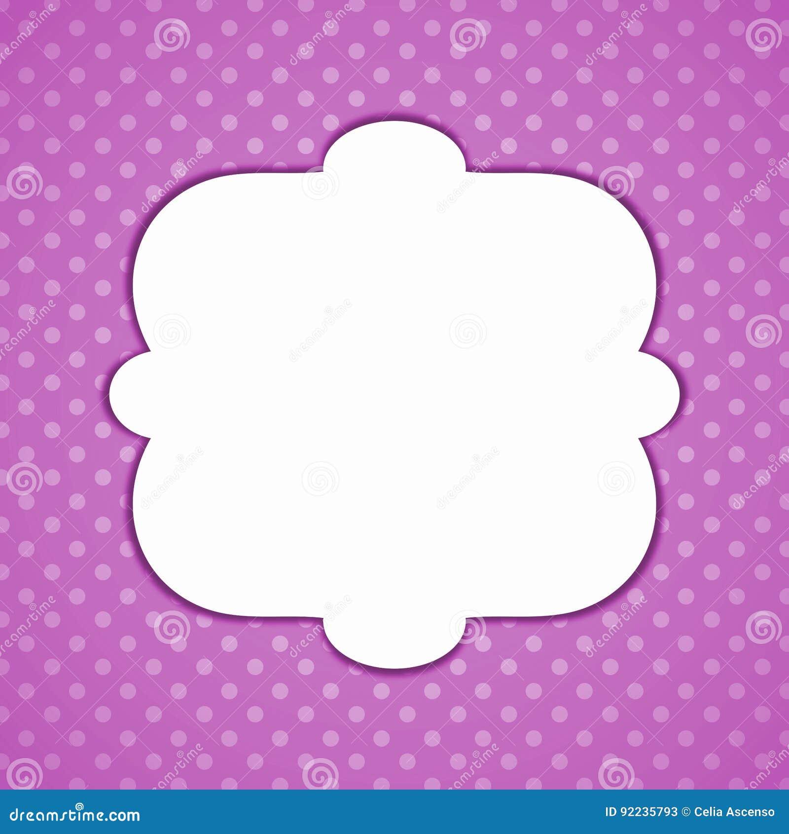 Purpurfärgat kort för pricktappninginbjudan