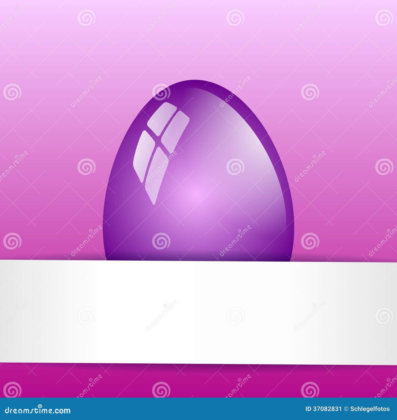 Download Purpurowa Easter Jajka Karta Ilustracji - Ilustracja złożonej z biały, jaskrawy: 37082831