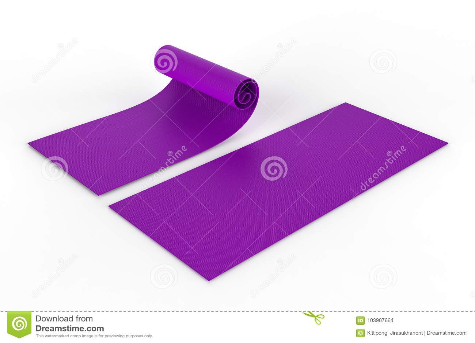 Purpurowa joga mata