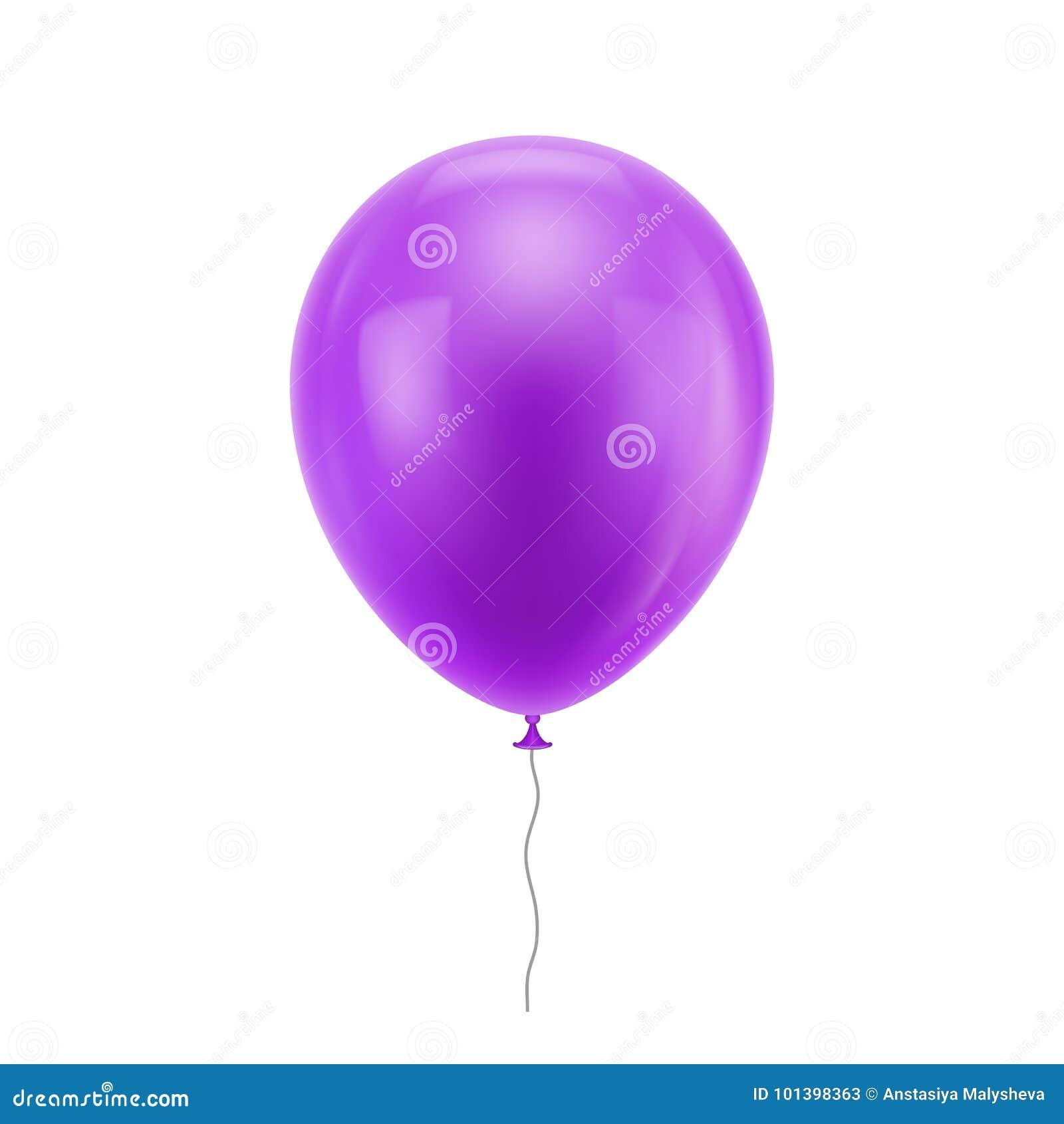 Purpurowy realistyczny balon