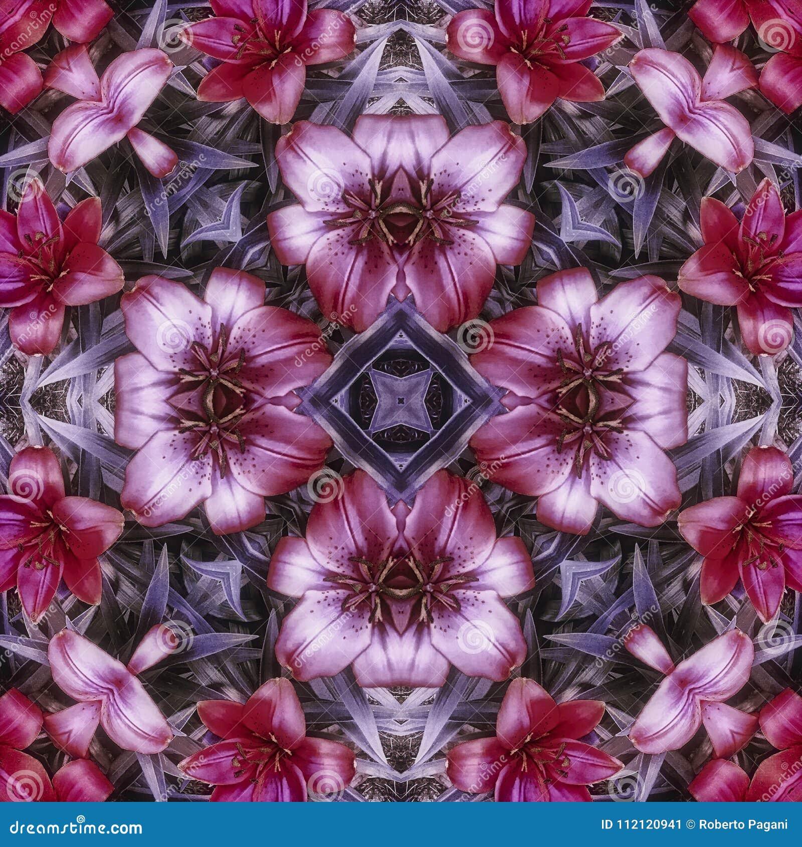Purpurrote Blumenfliese