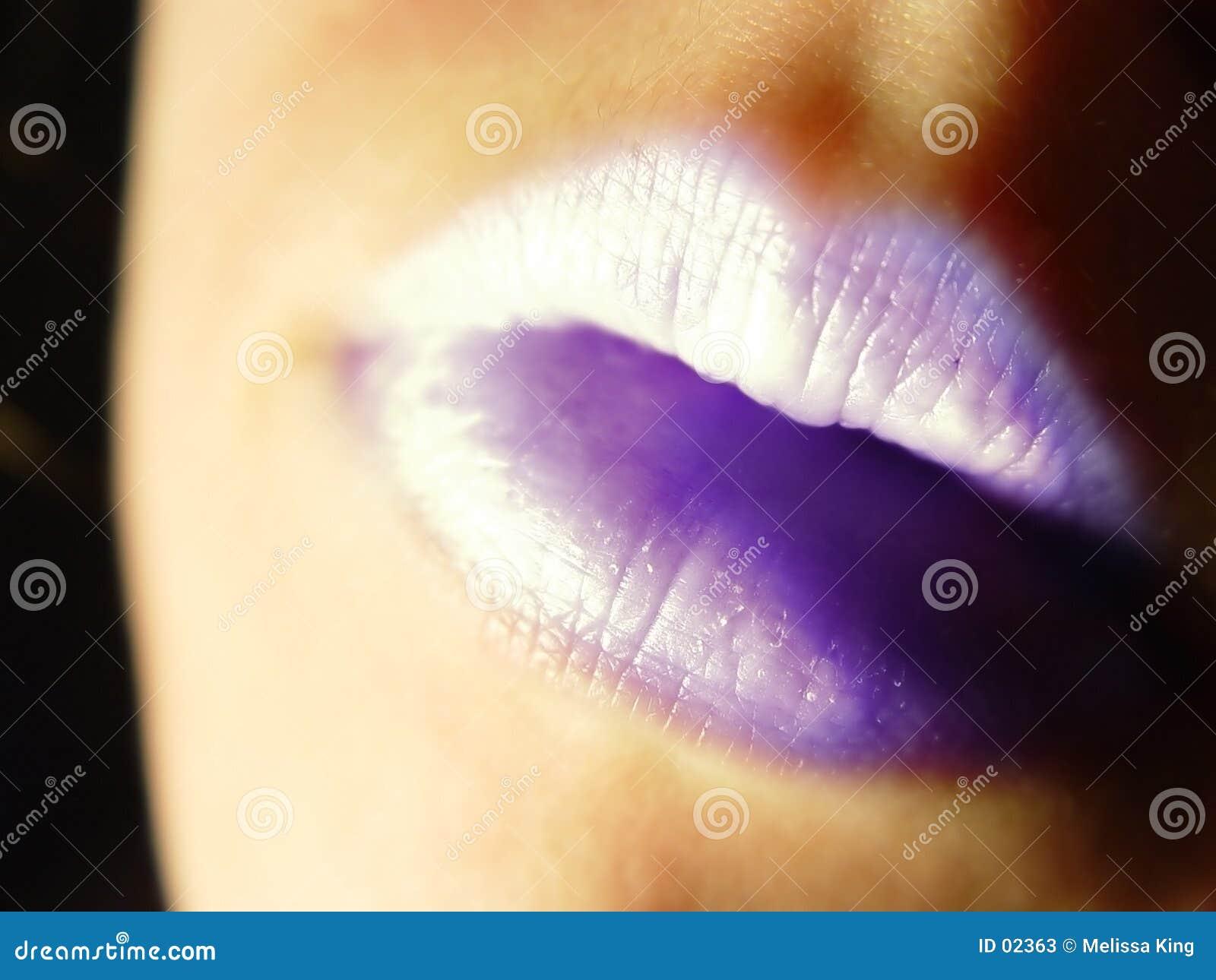 Purpurrote Lippen