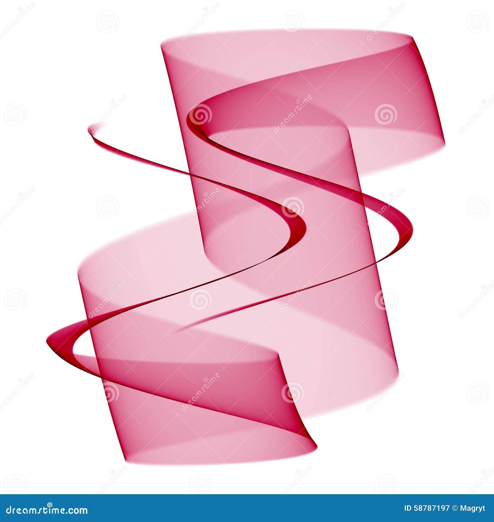 Purpurrote transparente Welle auf weißem Hintergrund Abstrakte Hintergrundillustration mit Platz für Ihren Text ENV 10