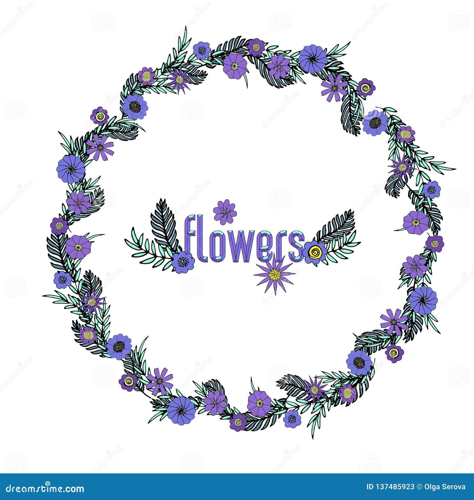 Purpurroter Blumenkranz