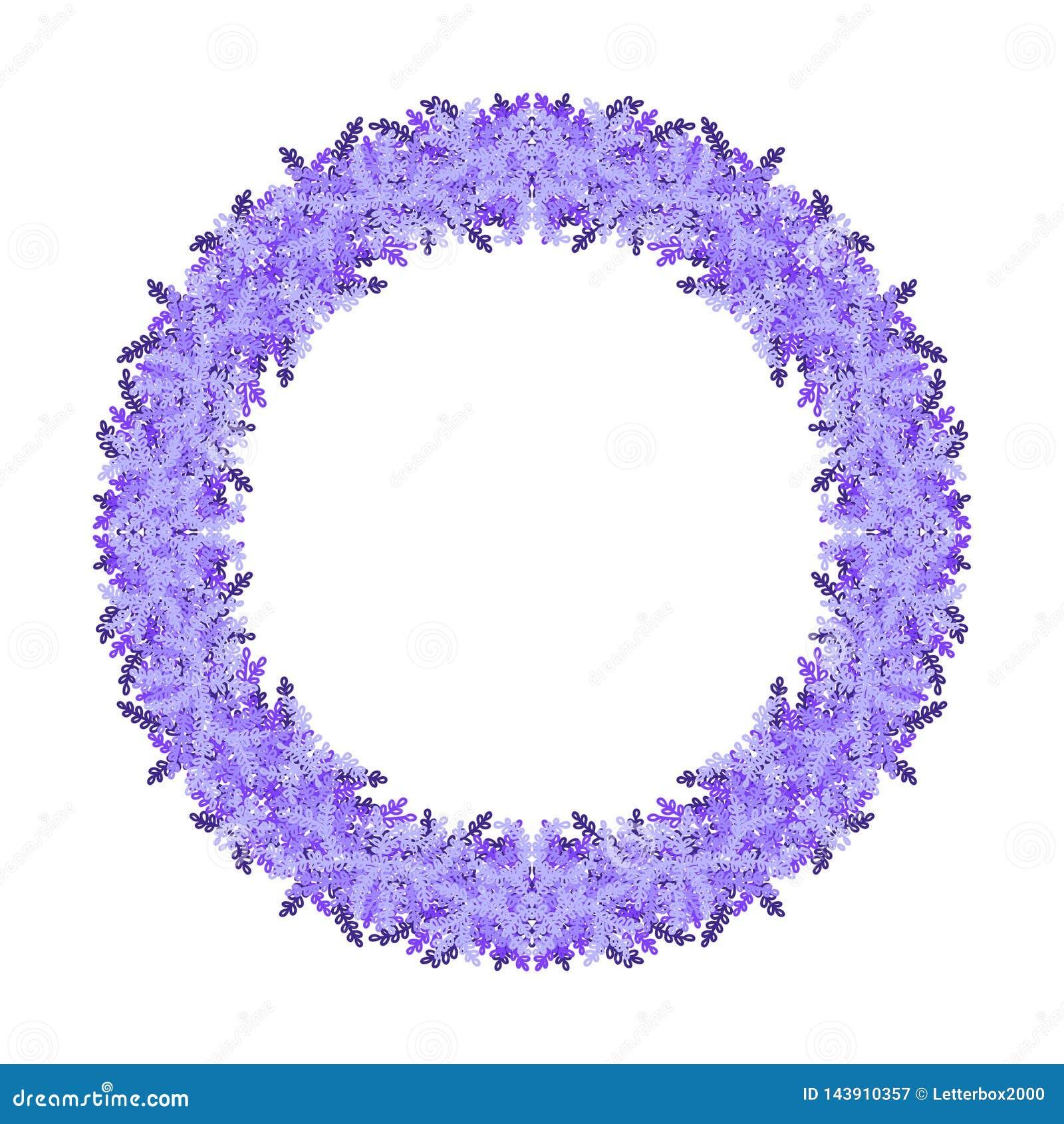 Purpurroter Kranz auf weißem Hintergrund