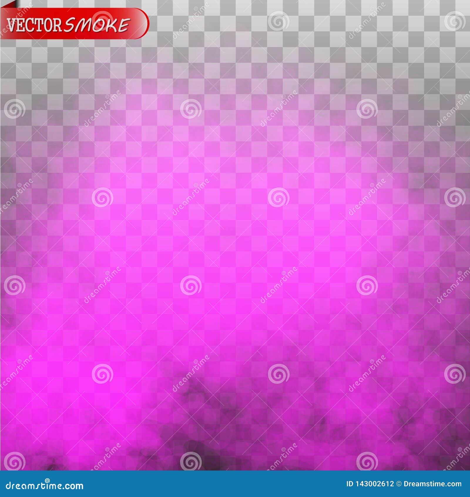 Purpurroter lokalisierter transparenter Spezialeffekt des Nebels oder des Rauches Farbe