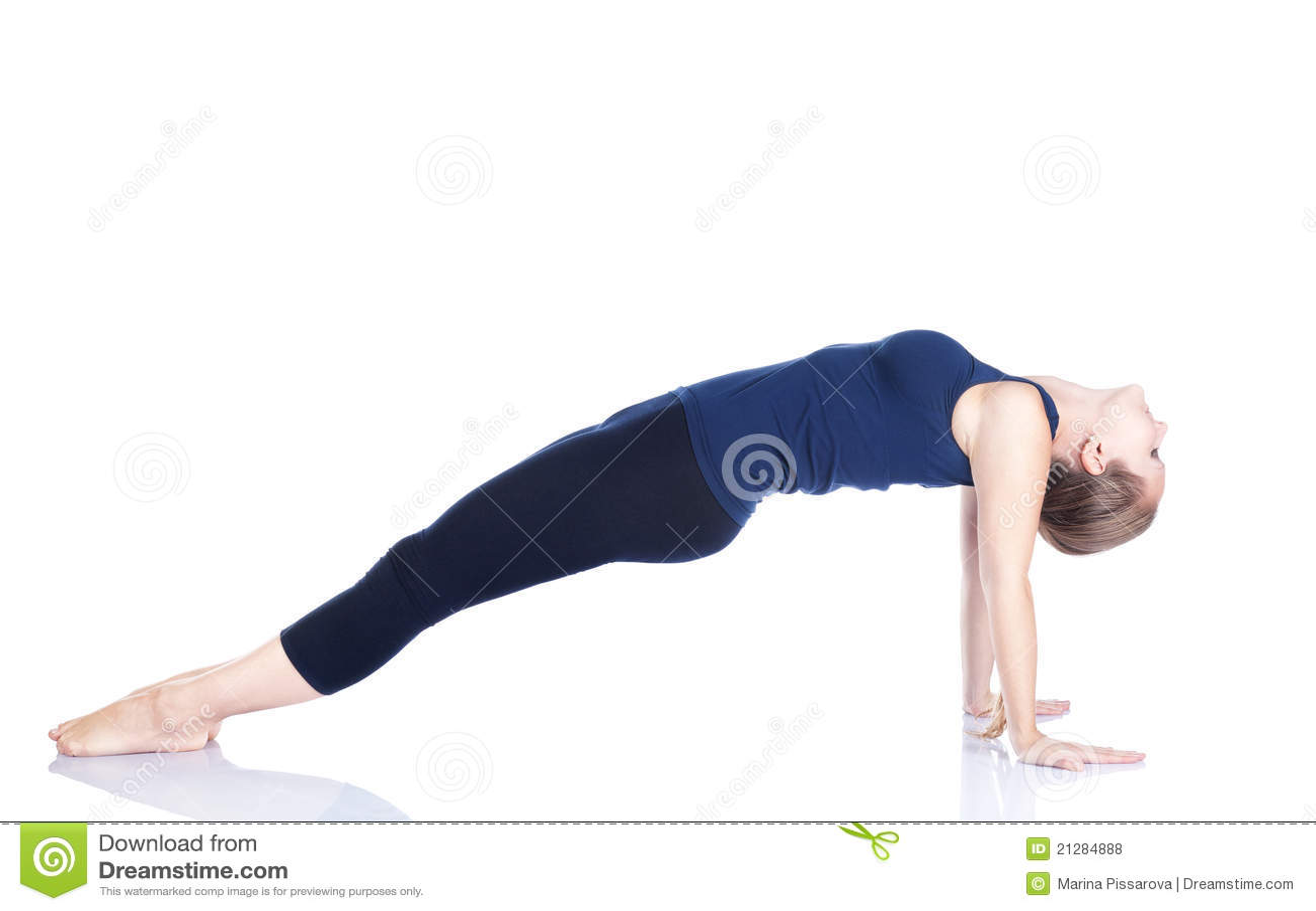 Purvottanasana van de yoga stelt