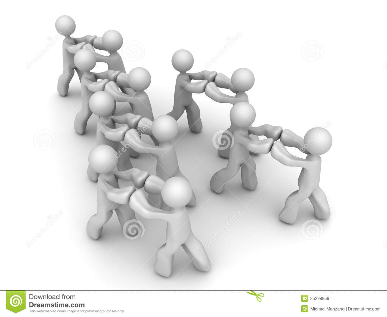 Push Against Each Other Royalty Free Stock Image