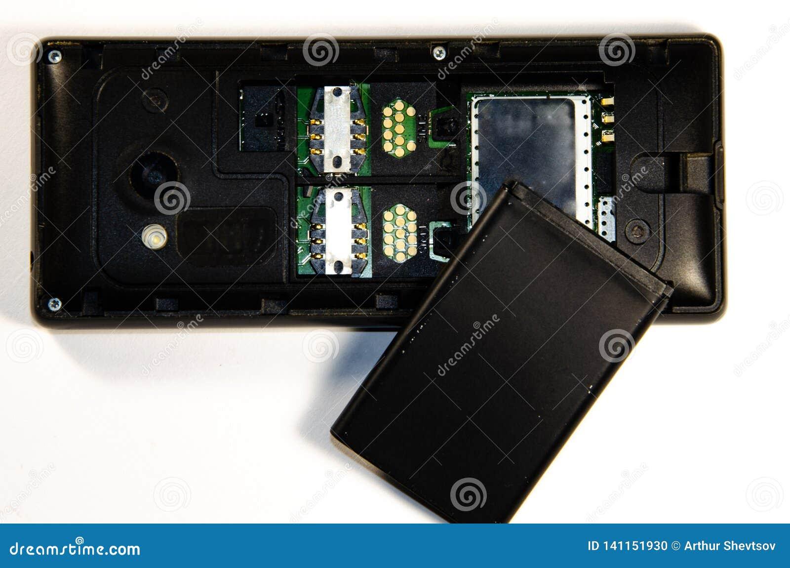 Push-button telephone, parsing, SIM card, memory card