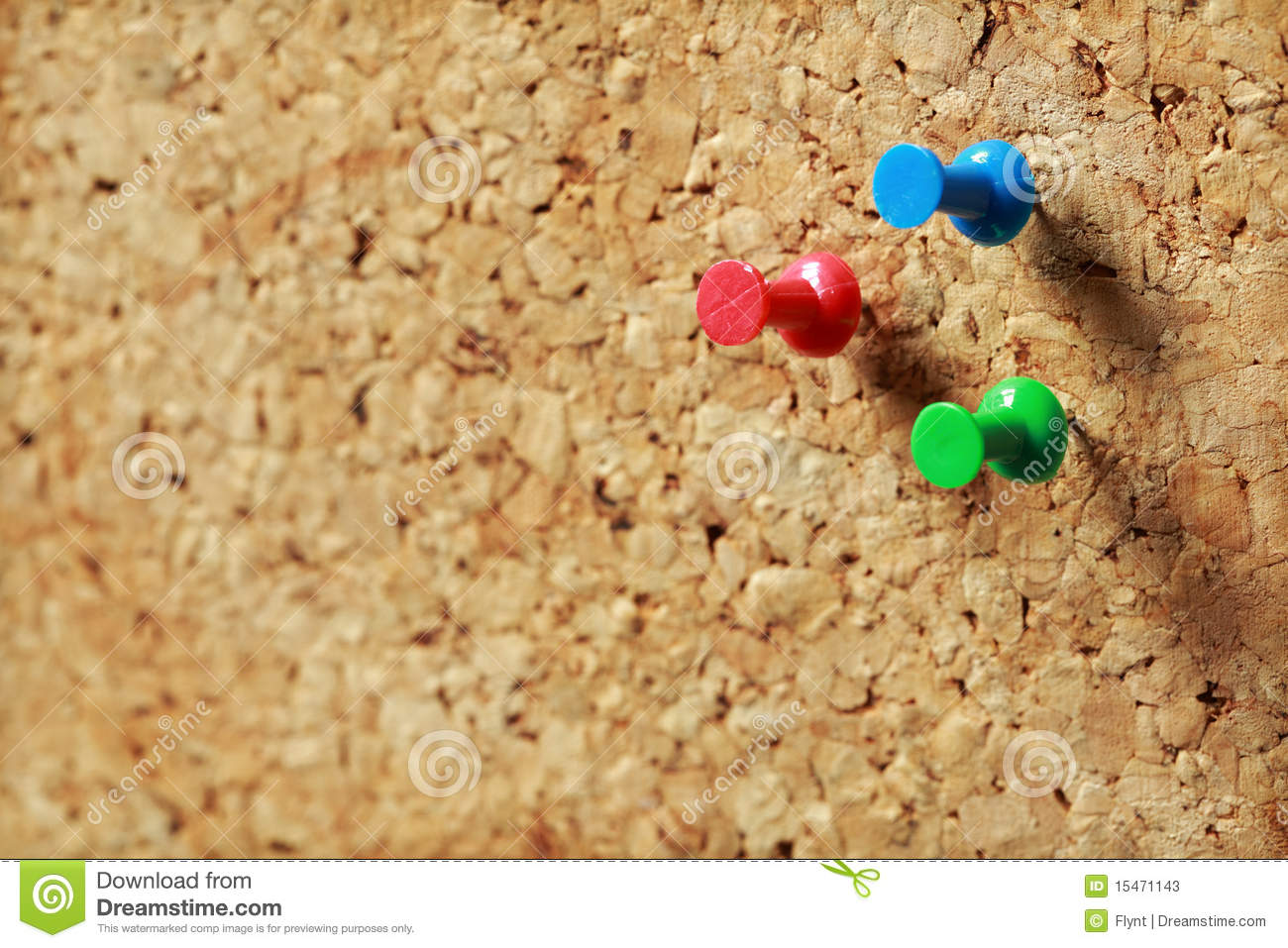 Push Pin On Cork Message Board Stock Photos - Image: 15471143