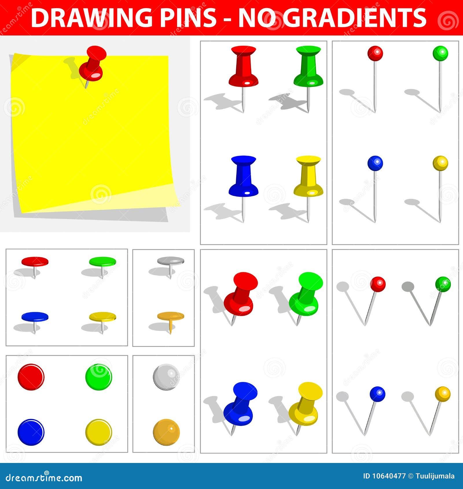 Push Pins Royalty Free Stock Photography Image 10640477