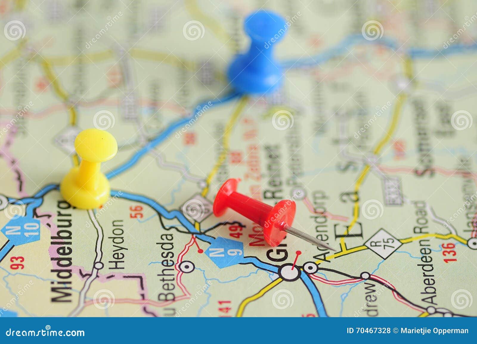 push pins on a map stock photo image of city pushpin 70467328
