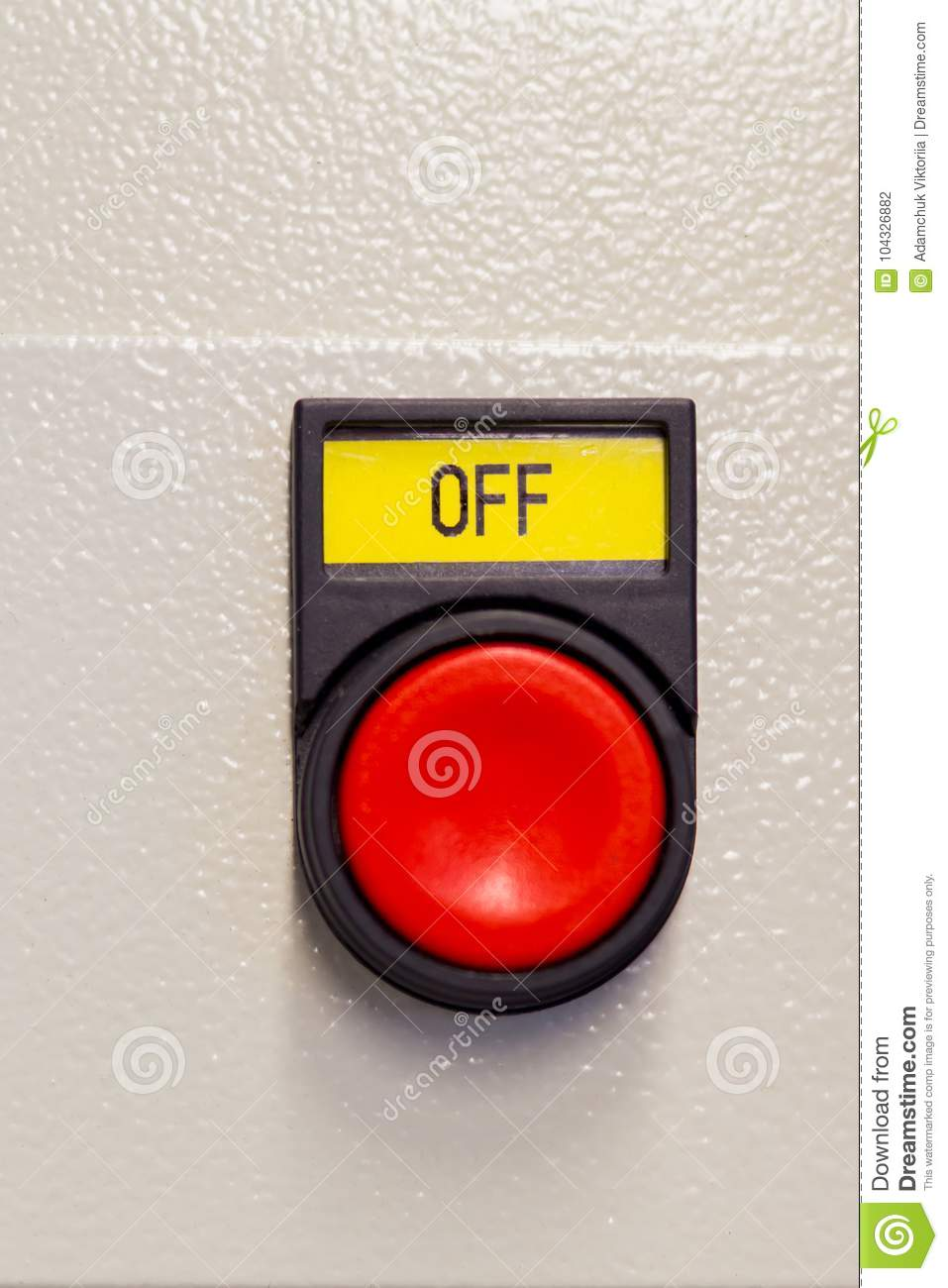 push red button off on device