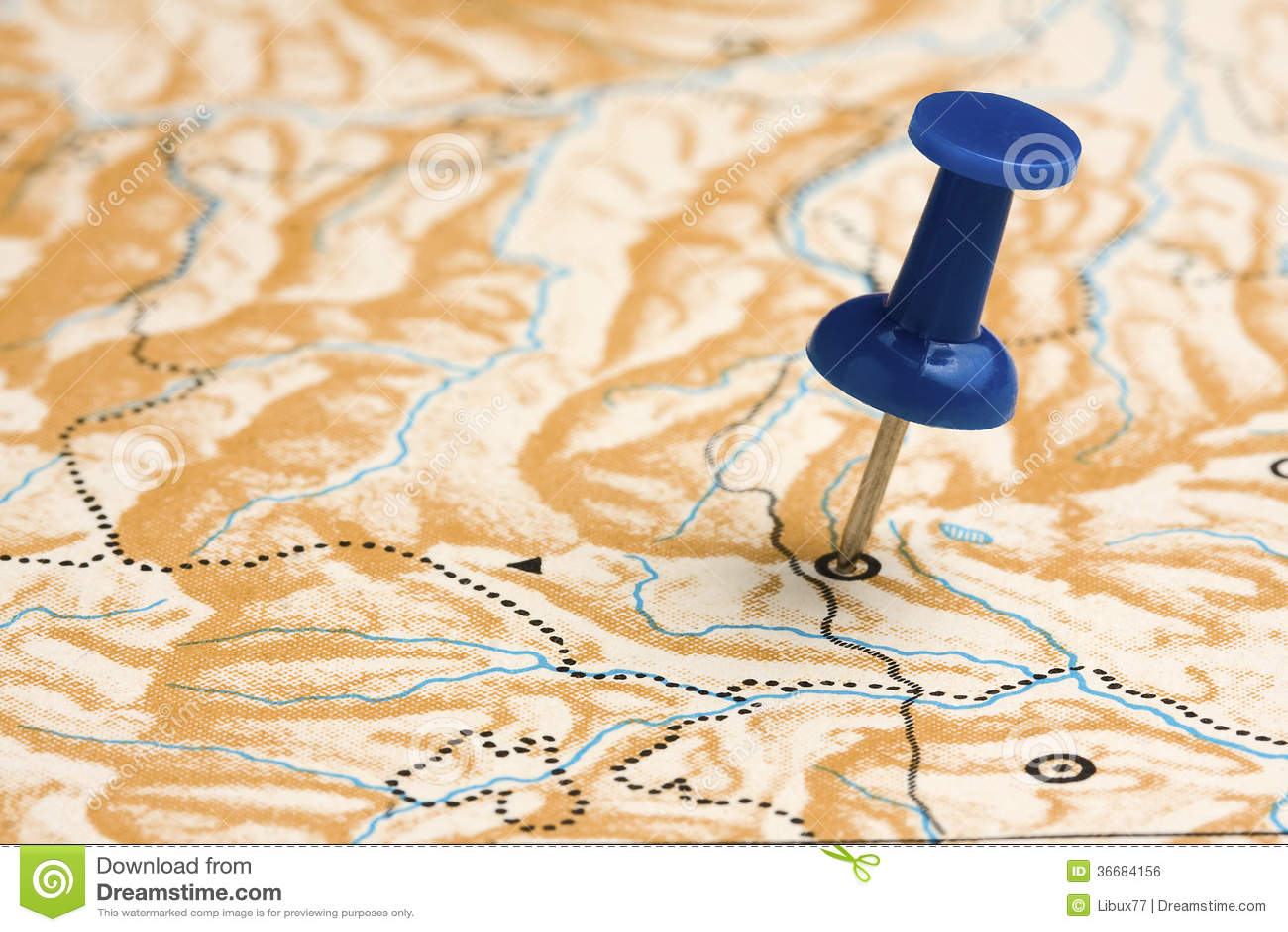 Pushpin στον ανώνυμο χάρτη