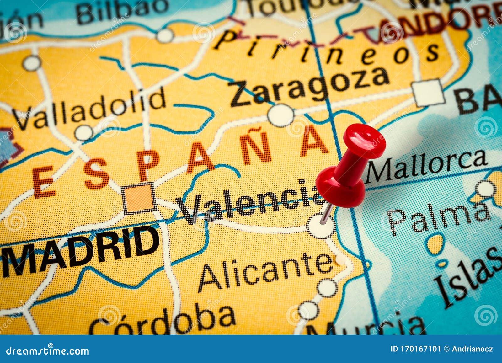 Saragozza Spagna Cartina Geografica.Mappa Di Valencia Spagna Foto Foto Stock Gratis E Royalty Free Da Dreamstime