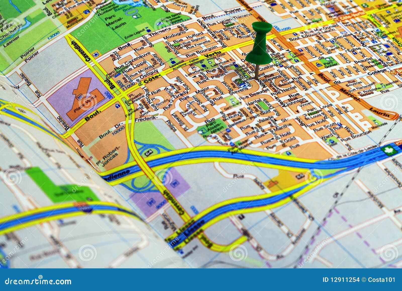 Pushpin on a map stock photo. Image of journey, geography ...  Pushpin Map