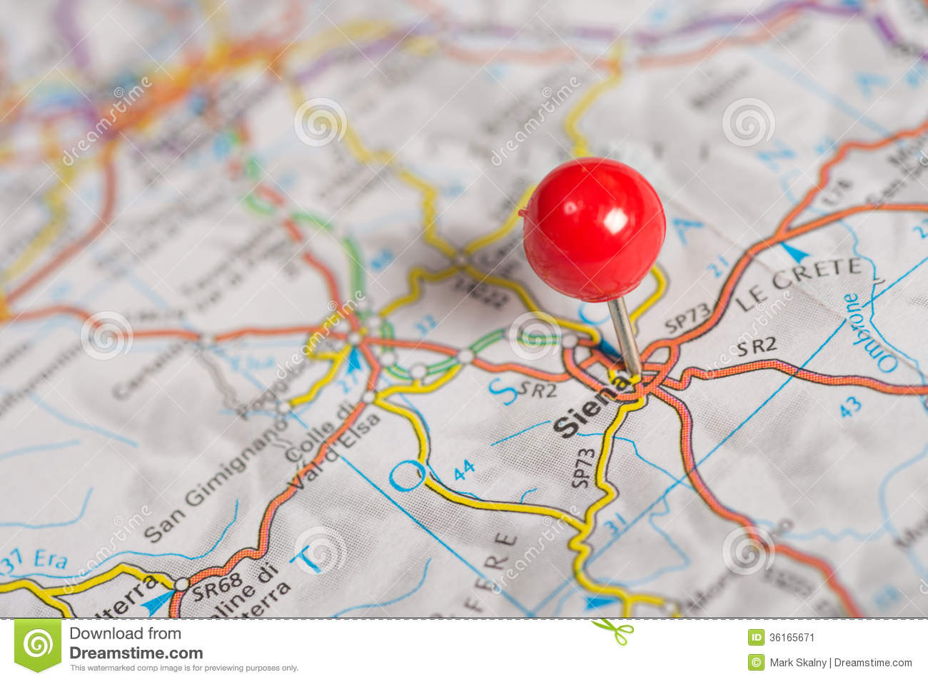 Pushpin The Map Royalty Free Stock graphy Image
