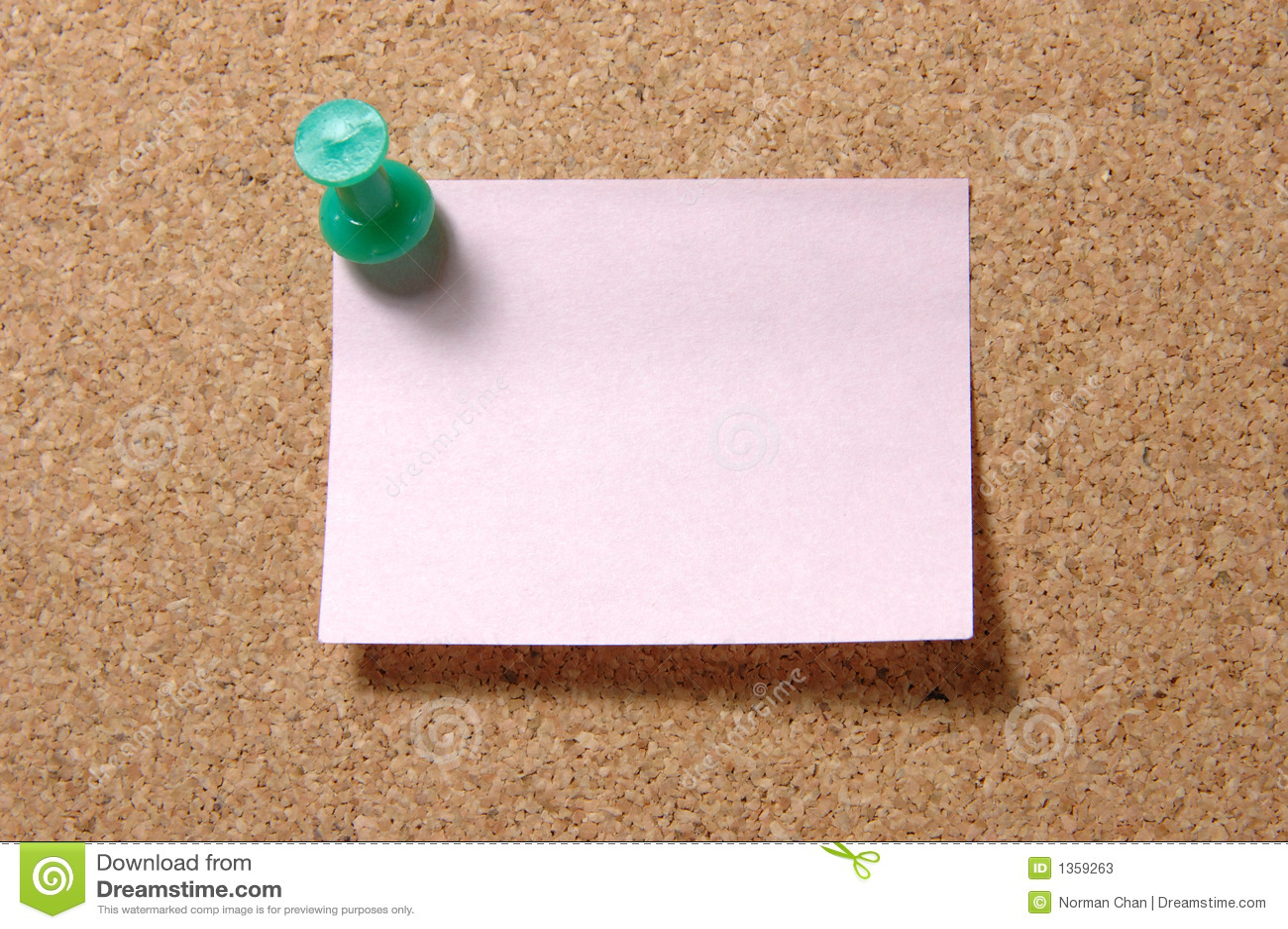 Pushpin notatki corkboard pocztę