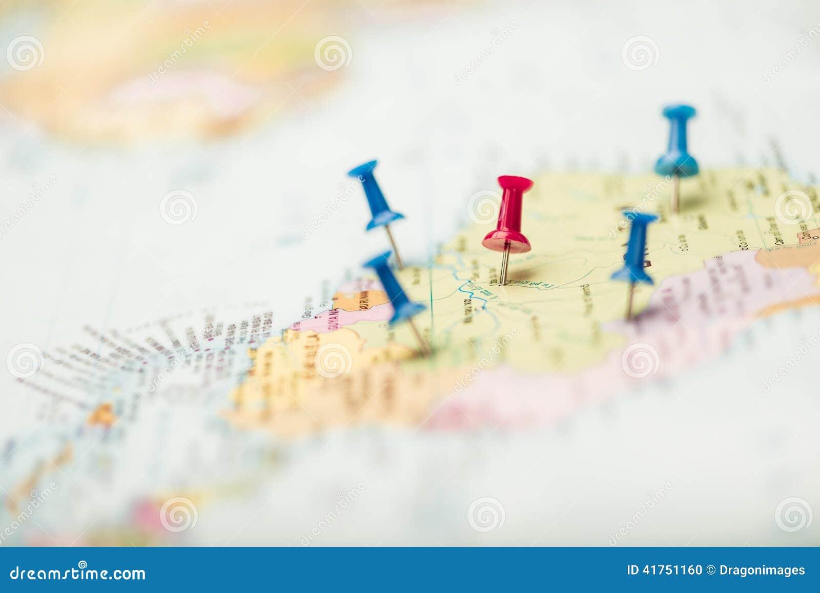 Pushpins на карте