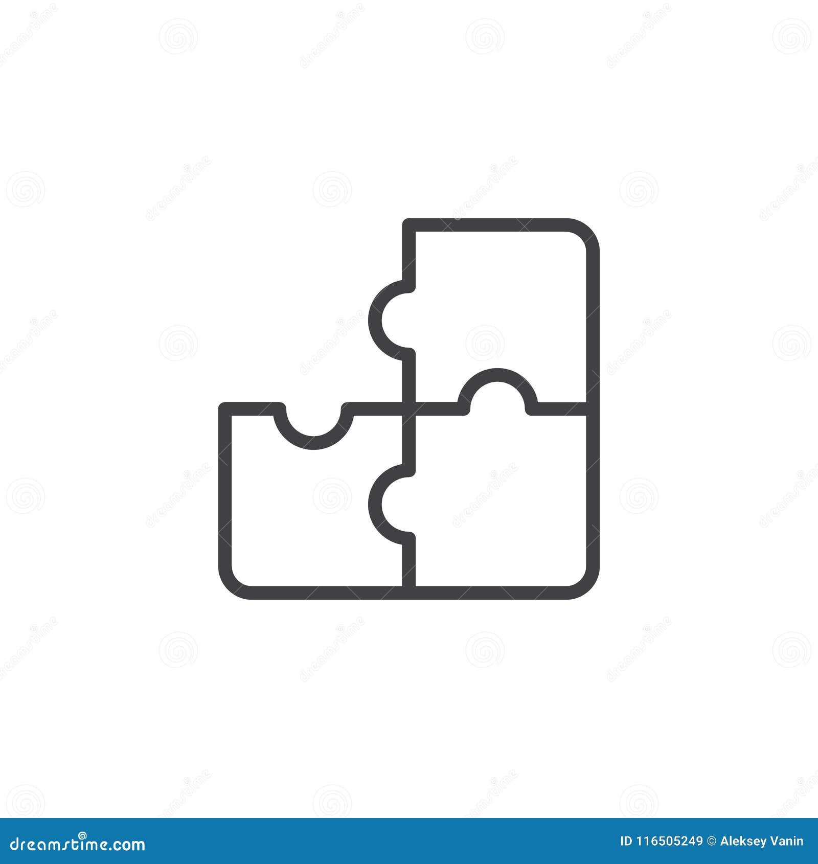 Pussel översiktssymbol för tre stycke