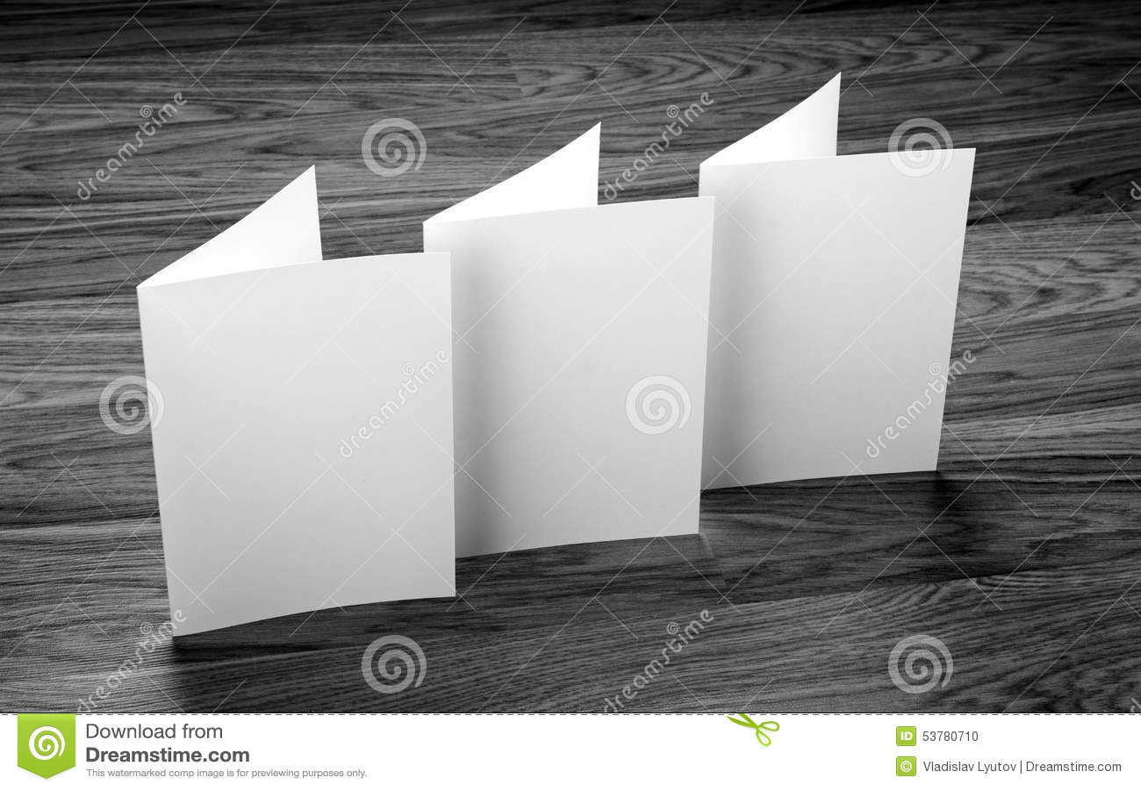 Pusta biała falcowanie papieru ulotka
