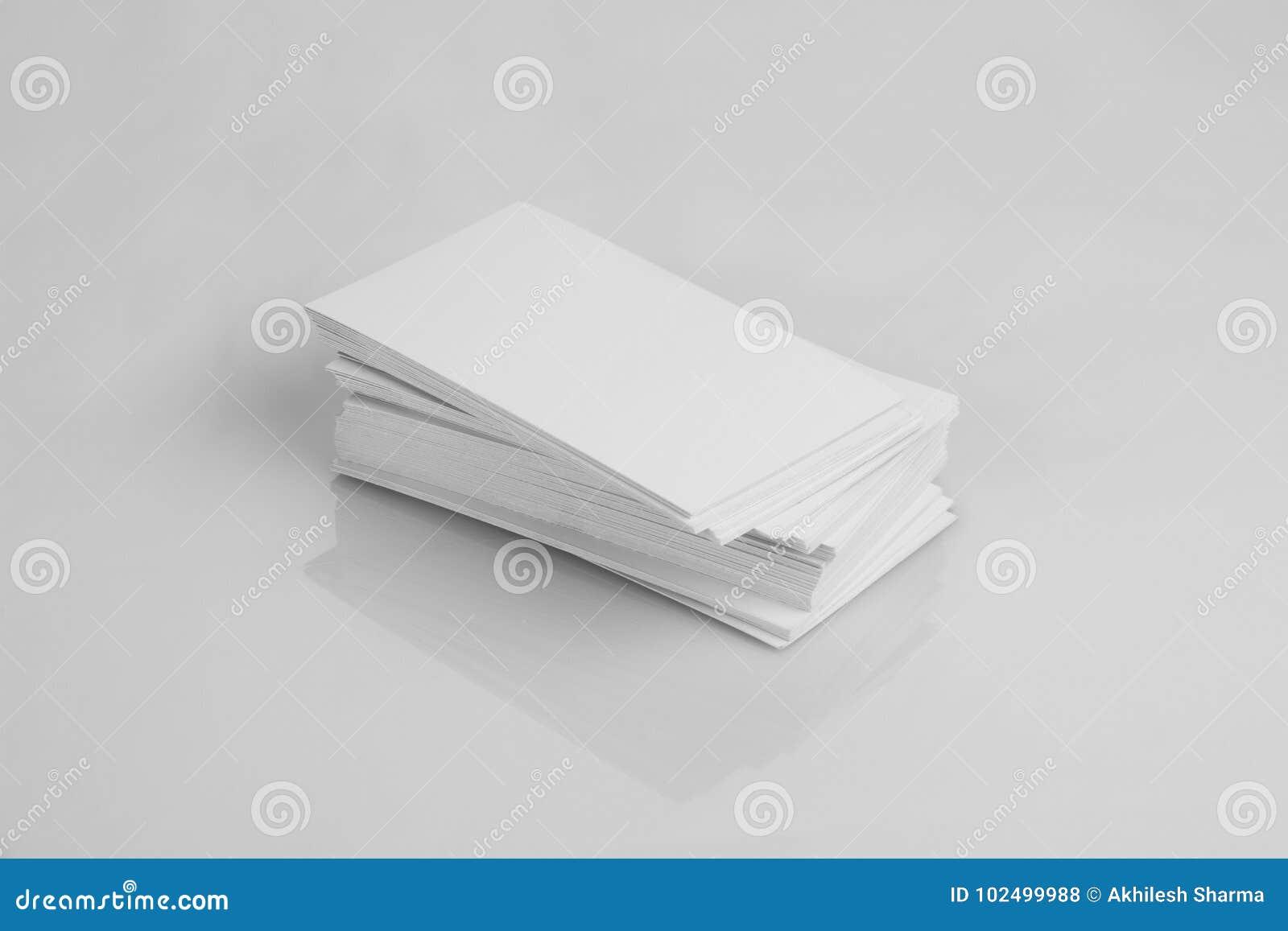 Pusta Biała Wizytówka Dla Mockups Zdjęcie Stock Obraz