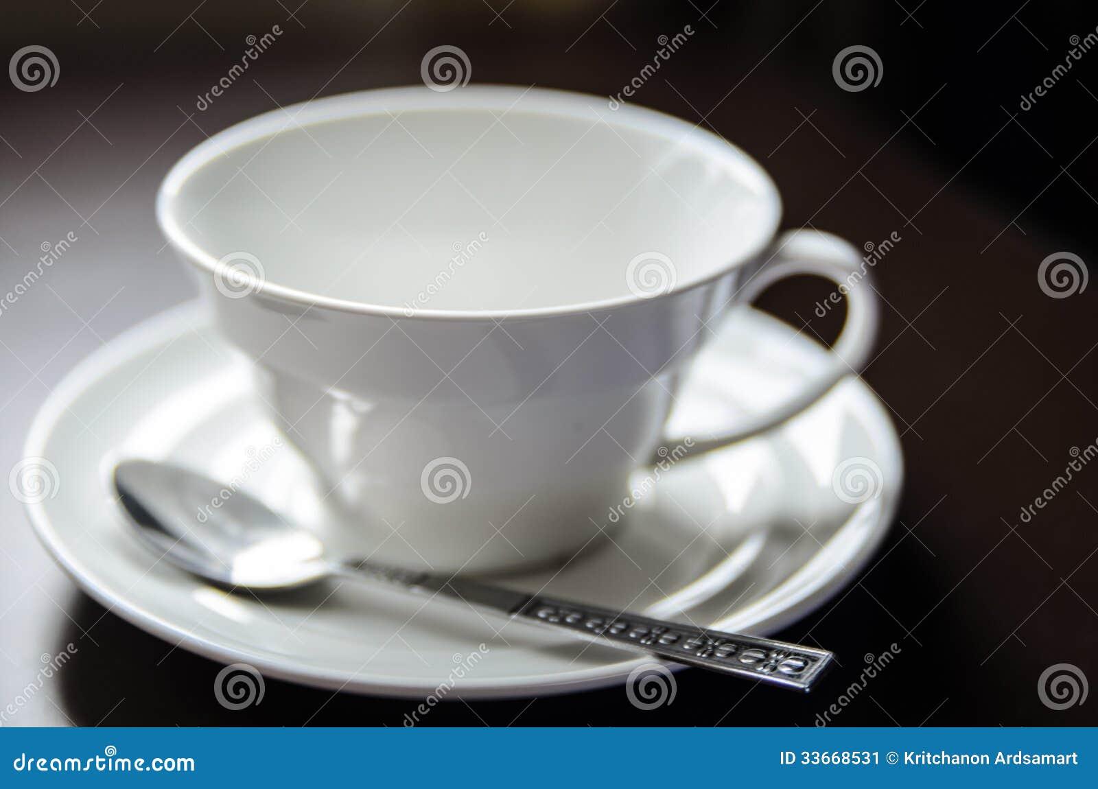 Pusta filiżanka kawy