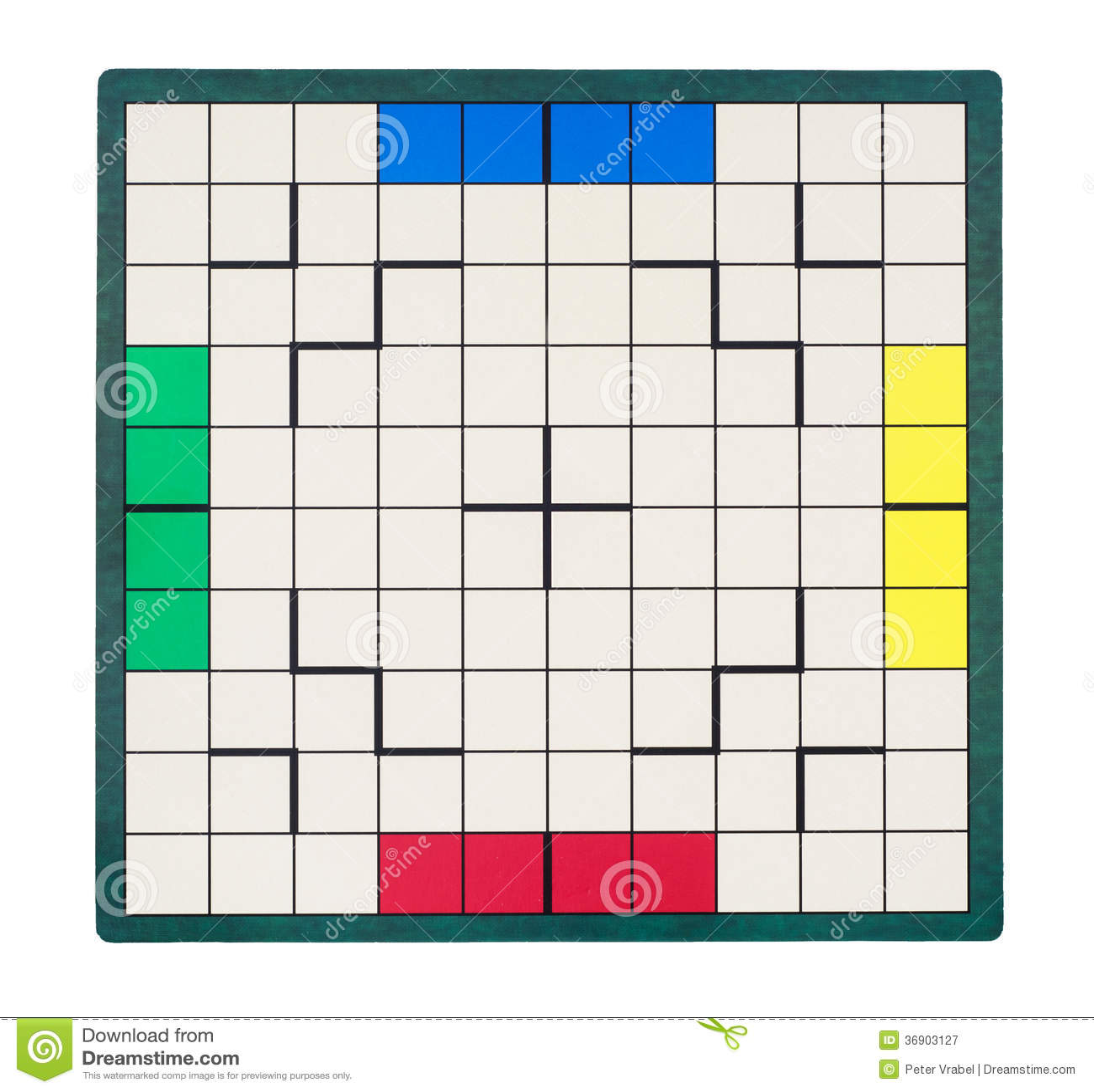 Pusta kwadratowa gry deska