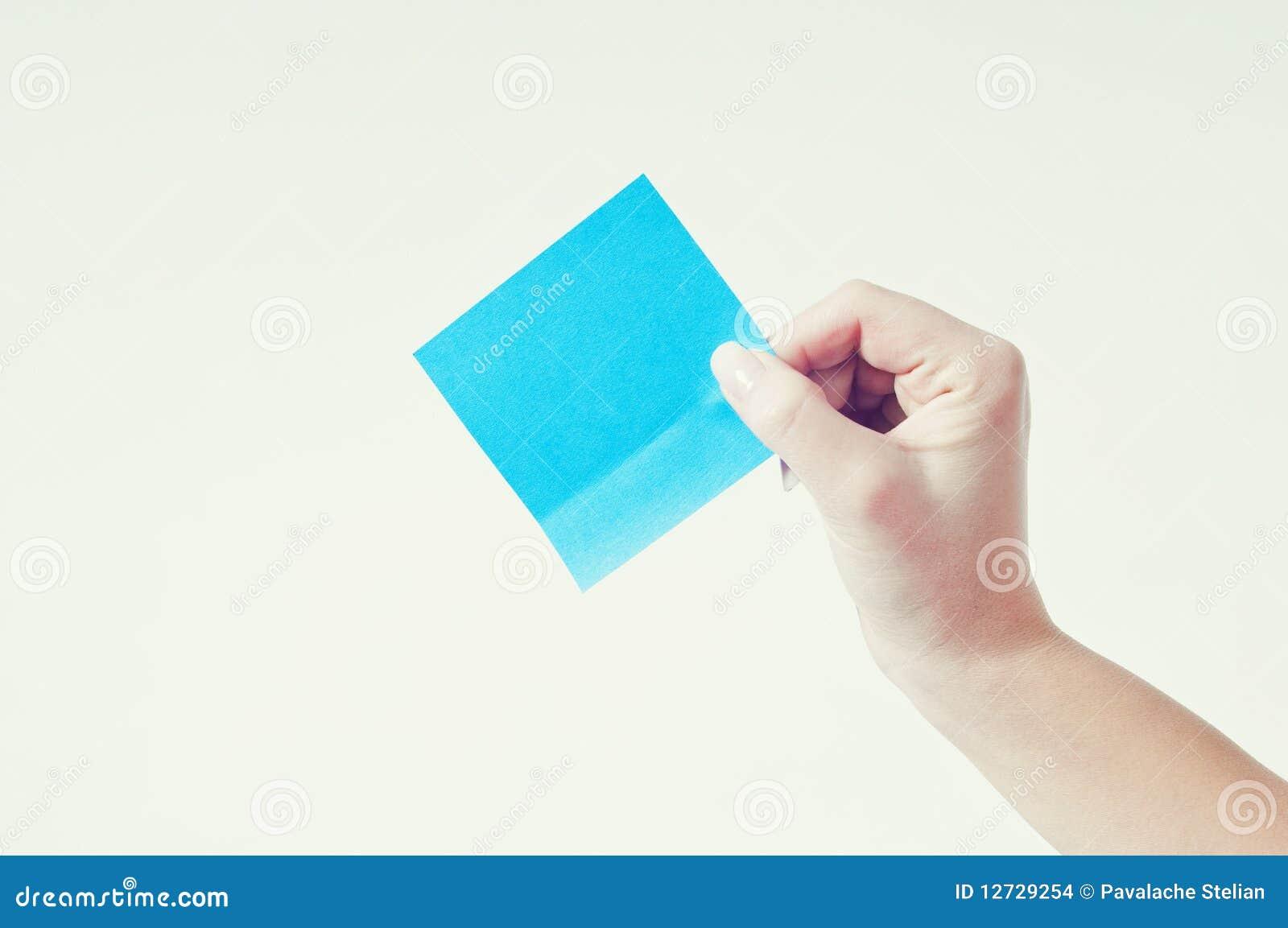 Pusta mienia papieru osoba