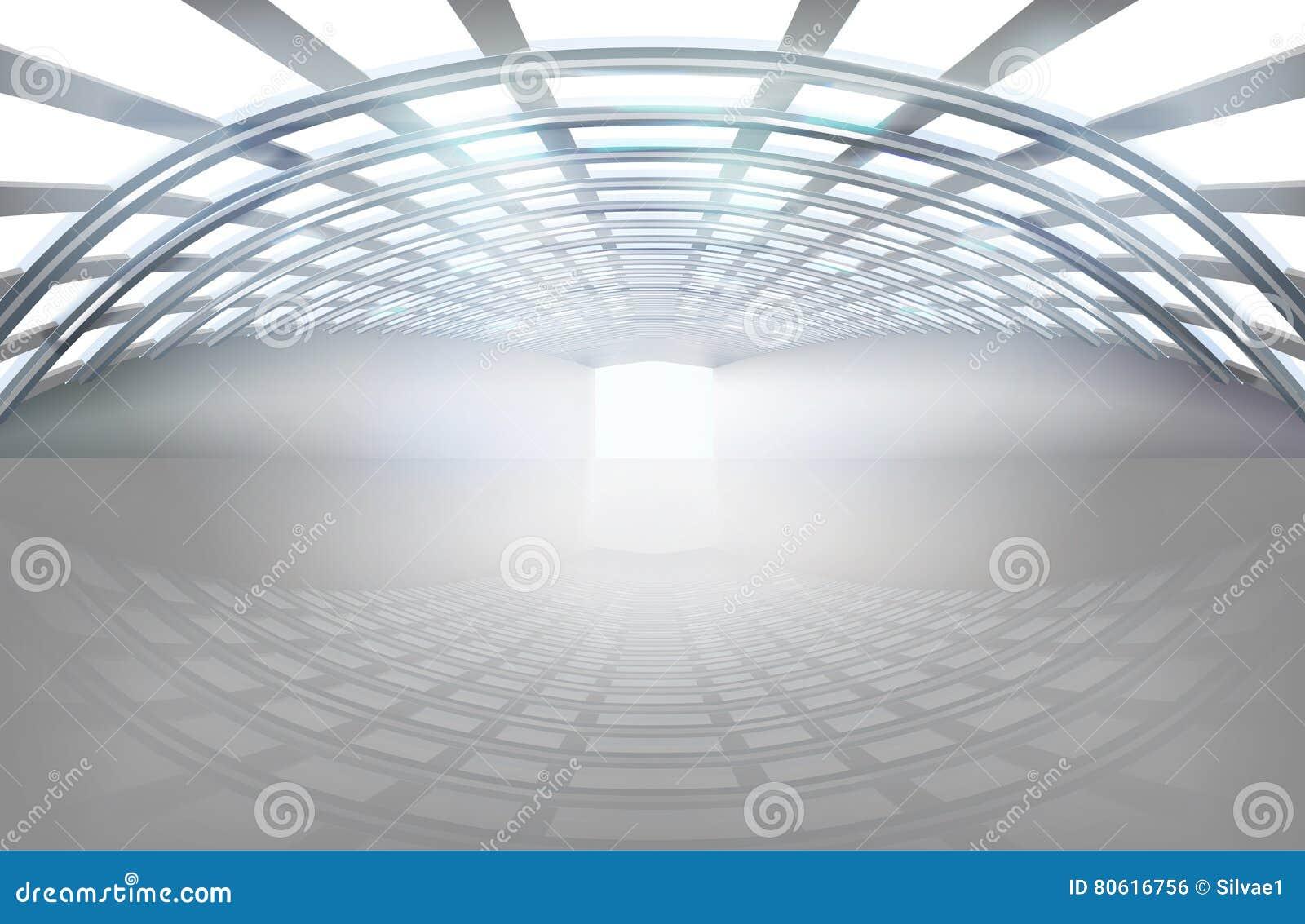 Pusta sala, ampuły przestrzeń również zwrócić corel ilustracji wektora