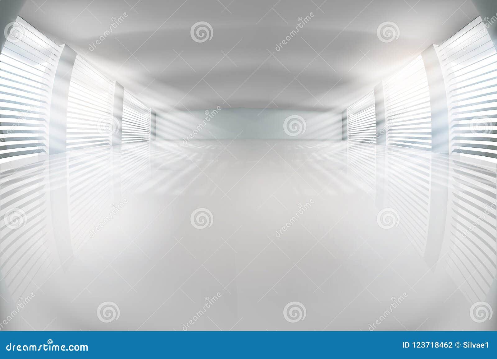 Pusta sala z okno również zwrócić corel ilustracji wektora