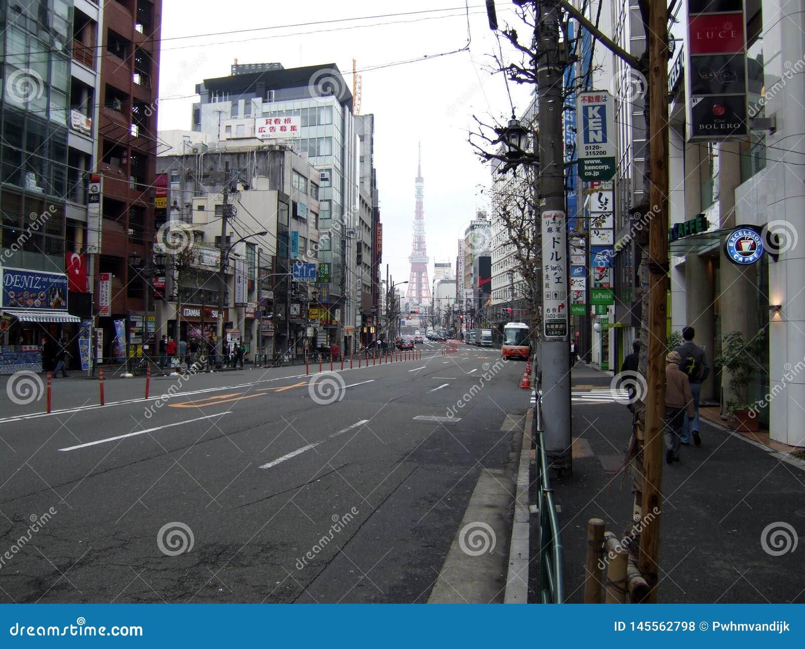Pusta ulica w Japonia