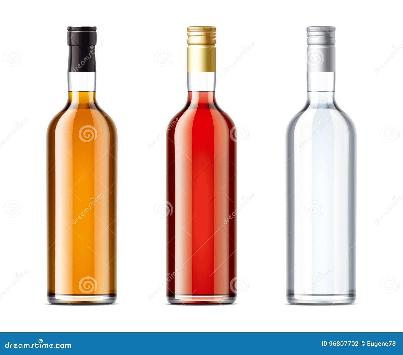 Puste butelki ustawiać alkoholu napój