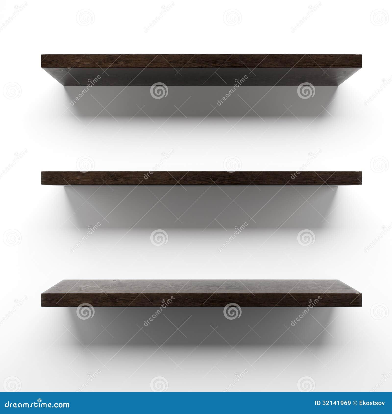 Puste Drewniane Półki Na ścianie Obrazy Stockowe Pobierz