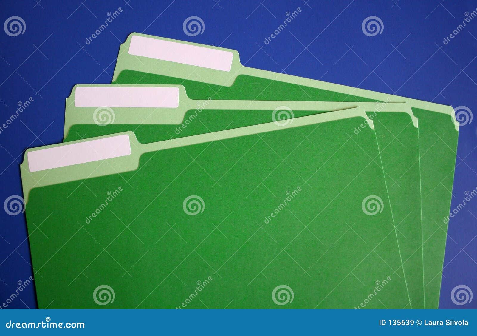 Puste pliki falcówek etykiety