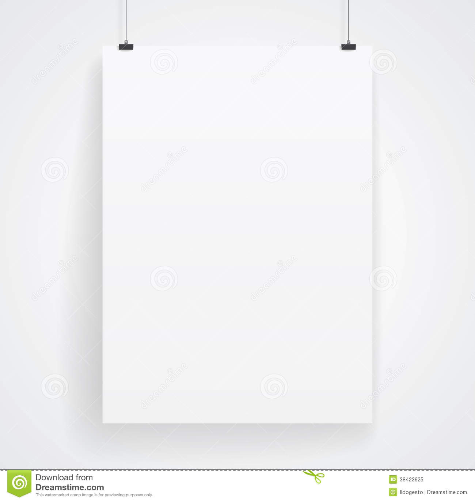Pustego papieru plakat