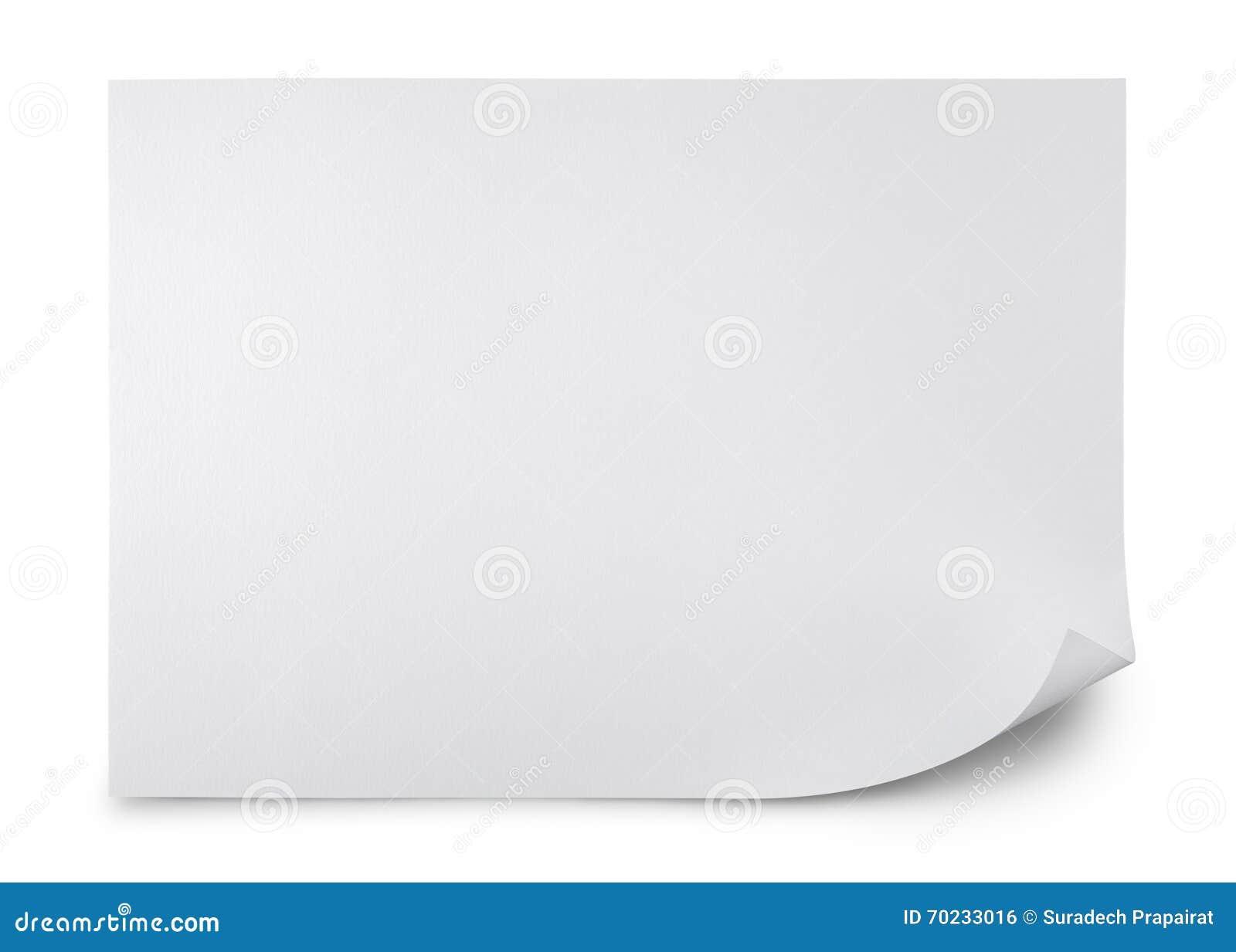 Pusty arkusza papieru
